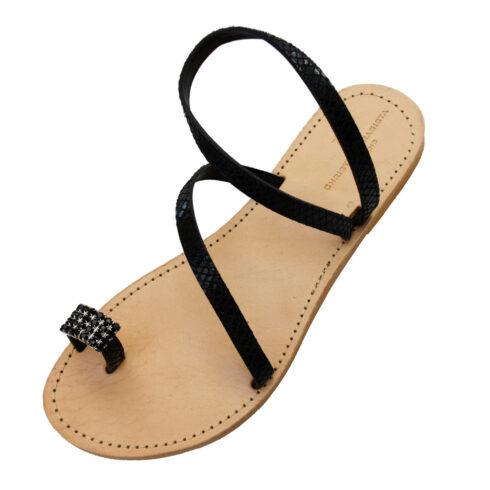 donoussa-black-snake-sandal