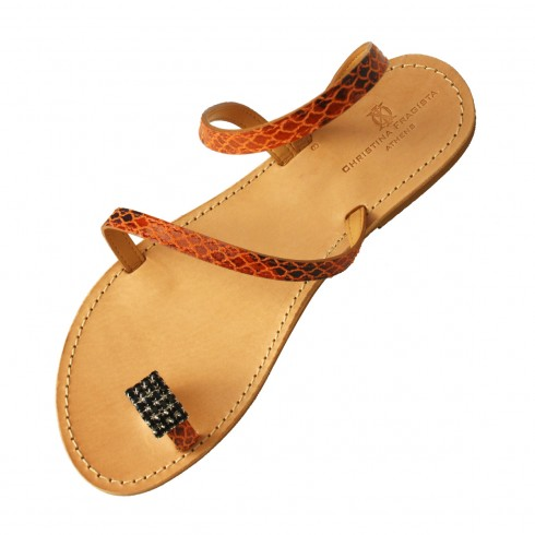 donoussa-orange-snake-sandal