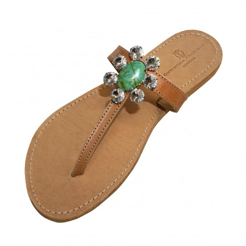 lipsi-green-howlite-sandal