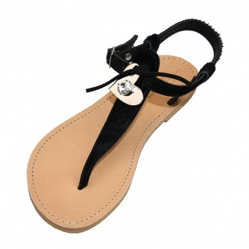 methoni-black-pony-skin-sandal