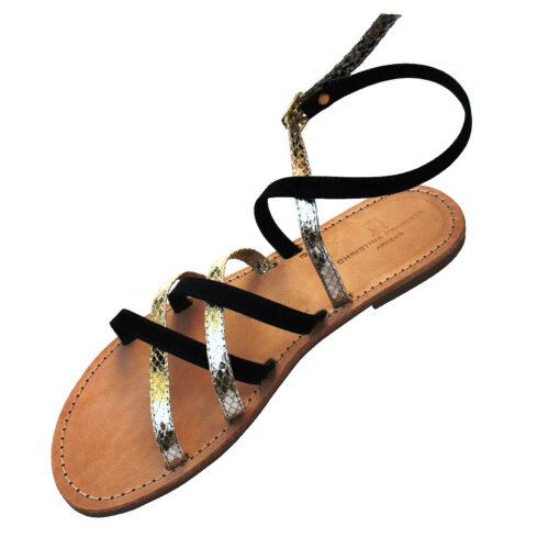 peristera-gold-black-sandal