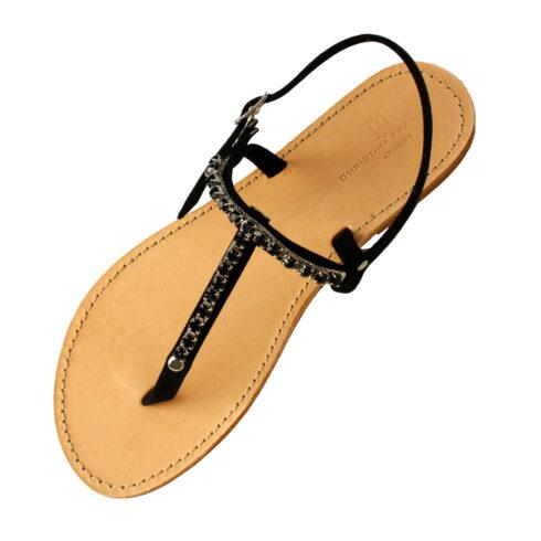 spetses-black-sandal