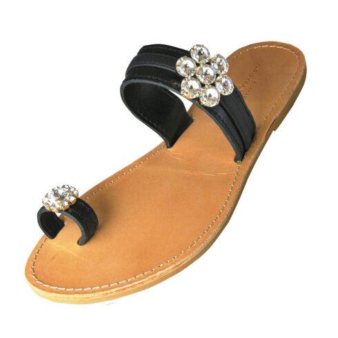 zakynthos-black-sandal